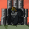 Batman Gorilla Grodd Barrels of Peril